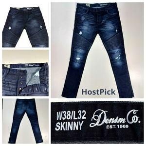 Denim Co. Est. 1969 Dark Ribbed Skinny Jeans NWOT